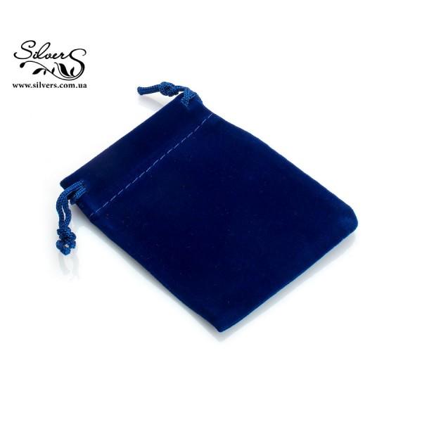 Подарочный мешочек синий бархатный, 0003