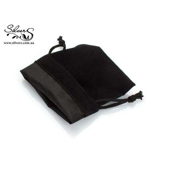 Подарочный мешочек черный бархатный, 0006