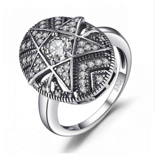 Кольцо с цирконием филигрань, 2272
