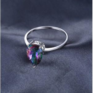 Кольцо с мистик топазом , С2283