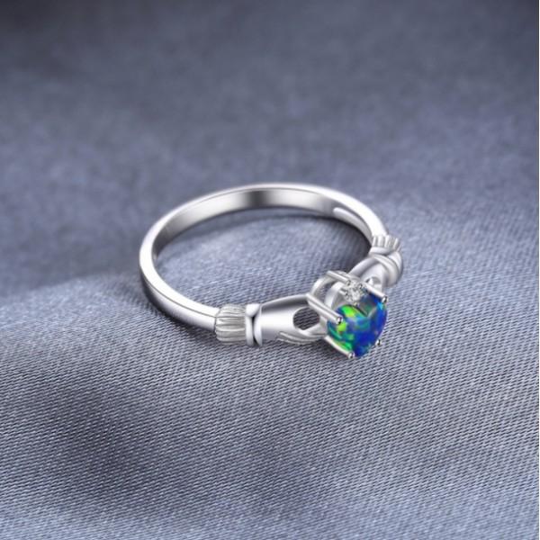 Кольцо с опалом и цирконием, 2398
