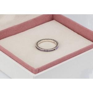"""Кольцо """"Фиолетовое лучезарное сердце"""" , С1487"""