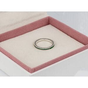 """Кольцо """"Зеленое лучезарное сердце"""" , С1484"""