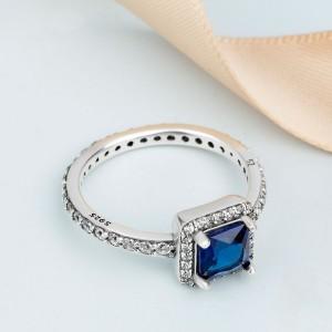 """Кольцо """"Вечная классика. Синее"""" , С1888"""