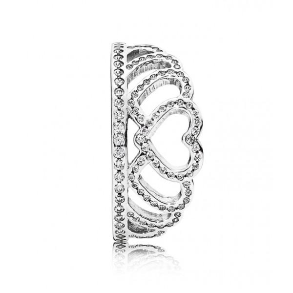 "Кольцо ""Тиара из сердец"" , 2571"