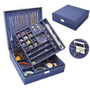 Шкатулка для украшений органайзер коробка коричневый, С2613