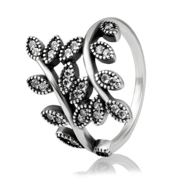 """Кольцо """"Сверкающие листья"""", С1580"""