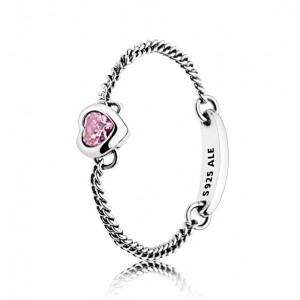 """Кольцо """"Энергичное сердце розовое"""" , С2849"""