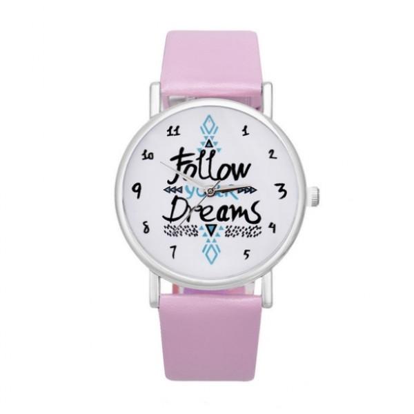 Часы Следуй за мечтой розовые, С2864