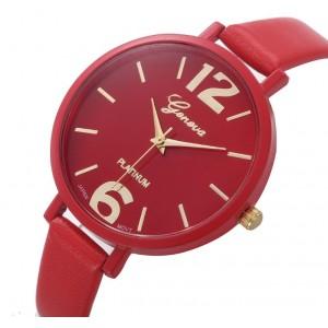 Часы Genvivia красные, С2867