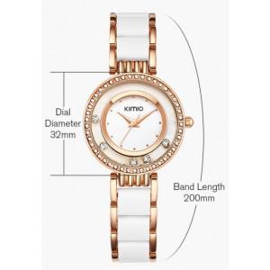 Часы Kimio белые с золотым, С2976