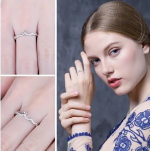 Кольцо с цирконием Корона, С3070