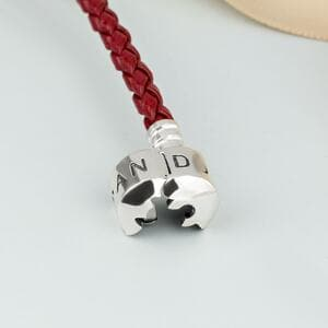 <h1>Кожаный браслет красный одинарный, 1060</h1>