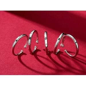 "Кольцо ""Буква D"", С4986"