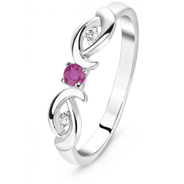 """Кольцо из серебра с натуральным рубином """"Парадиз"""", 5055"""