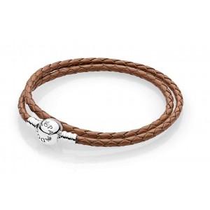 Шкіряний браслет коричневий, С5084