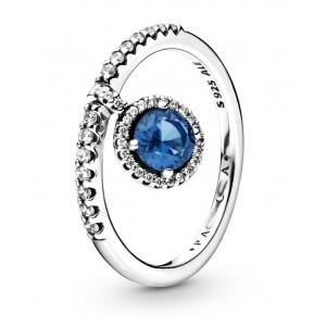 "Кольцо ""Синяя капля"" , 5456"
