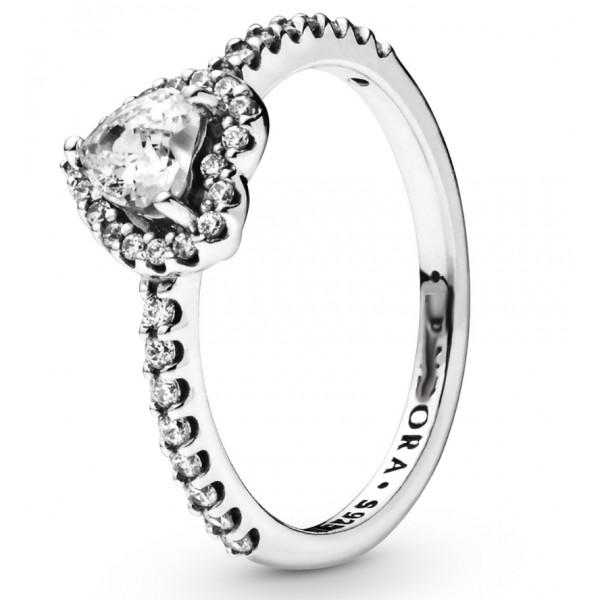 """Кольцо """"Сверкающее сердце"""" , 5538"""