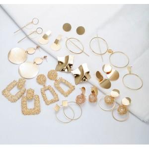 Массивные серьги, серебристые, С5642