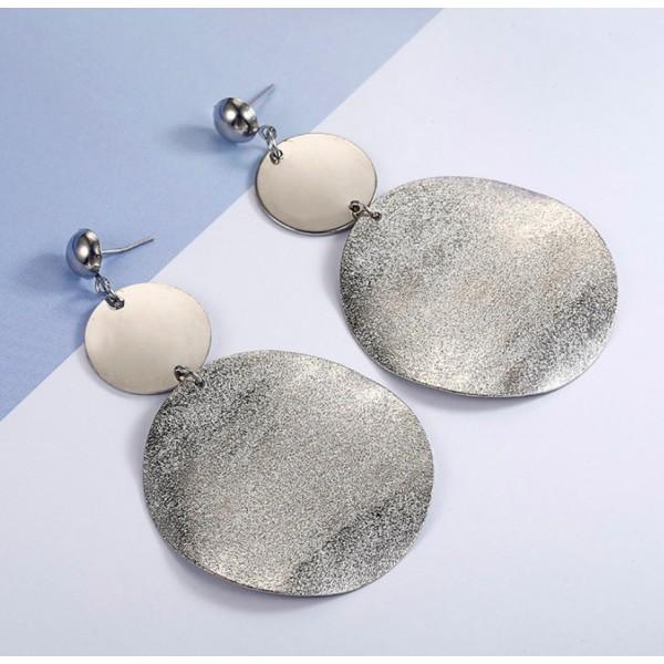 Массивные серьги, серебристые, С5643
