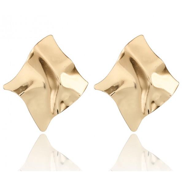 Массивные серьги, золотистые, С5651