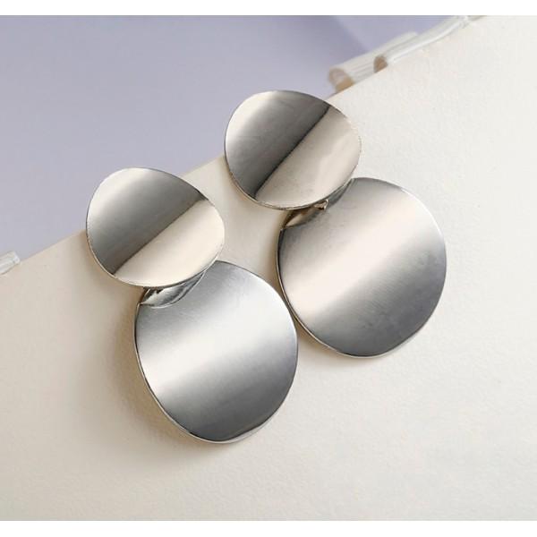 Массивные серьги, серебристые, С5655