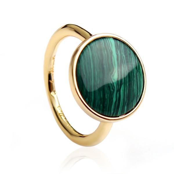 """Кольцо """"Зеленое сияние"""" Shine Муранское стекло, 5693"""
