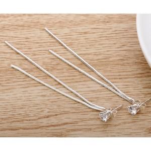 Висящие серьги, серебристые, С5708