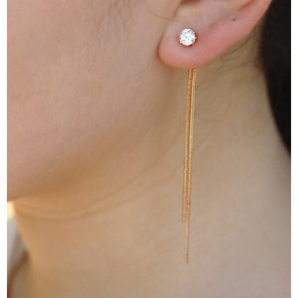 Висять сережки, золотисті, С5709