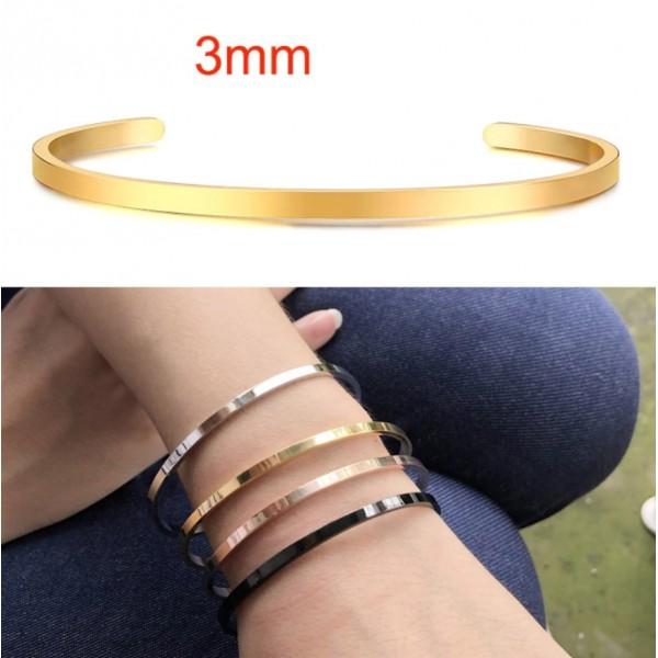 Женский браслет-манжета, 3 мм , С5750
