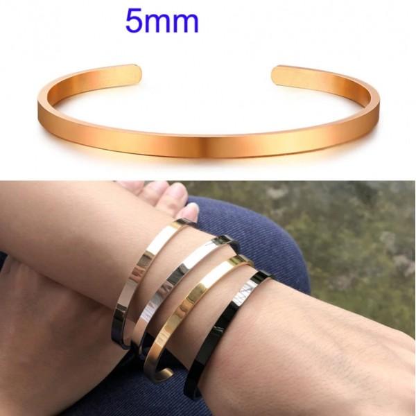 Жіночий браслет-манжета, 5 мм, С7328
