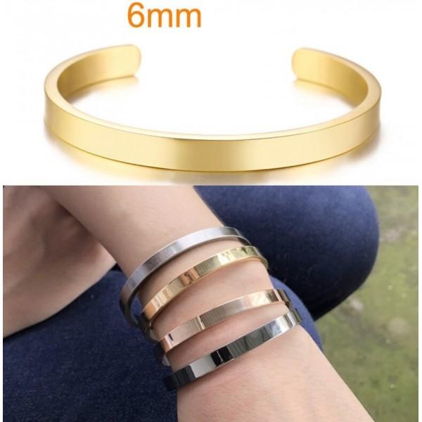 Жіночий браслет-манжета, 6 мм, С7329