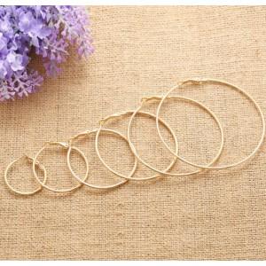 Жіночі сережки-кільця, сріблясті, С5830