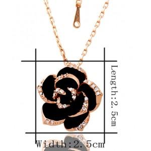 """Жіночий комплект """"Чорна квітка"""", С5870"""