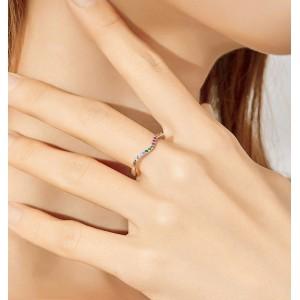 """Женское кольцо """"Радуга"""", С6028"""