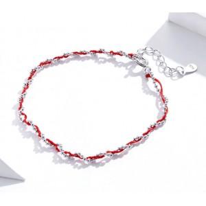 """Браслет из серебра """"Красная нить"""", С6030"""