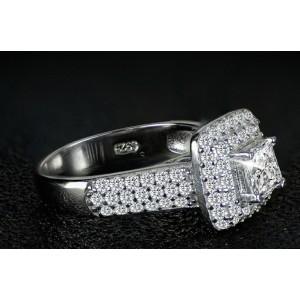 Серебряные кольца с цирконием, 2 шт, С6289