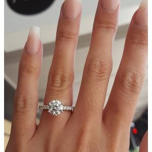 Женское кольцо, серебристое, С6416
