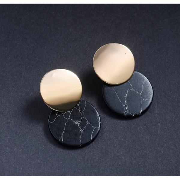 Сережки женские, черные, 6518