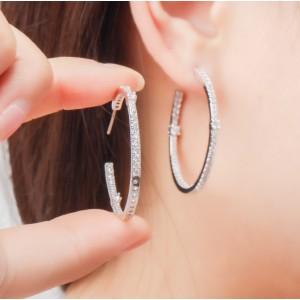 Сережки кільця конго з камінням, С6820