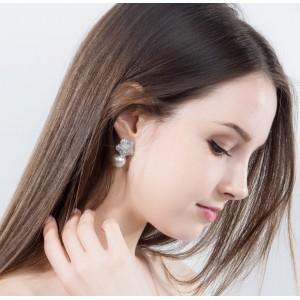Сережки жіночі з перлами, С6823