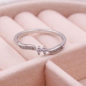 Женское кольцо, серебристое, С6926