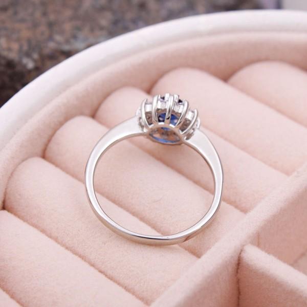 Женское кольцо с камнем, синее, С6932