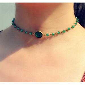 Ожерелье-чокер, зеленый  , С7074