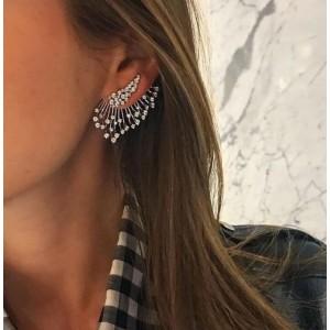 """Жіночі сережки Кафи """"Пір'я"""", С7857"""
