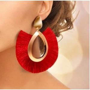 Жіночі сережки пензлика, червоні, С7921