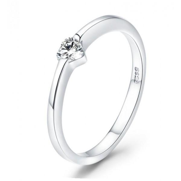 """Кольцо серебряное """"Сияющее сердце"""", С8041"""