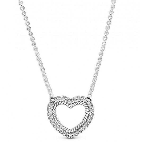 """Колье из серебра """"Открытое сердце"""", С8099"""