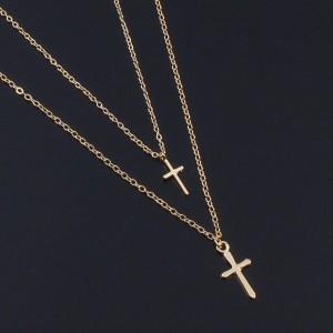Ожерелье цепочка с крестиком, С8162
