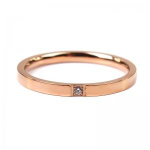 Жіноче кільце з каменем, золотисте, С8170